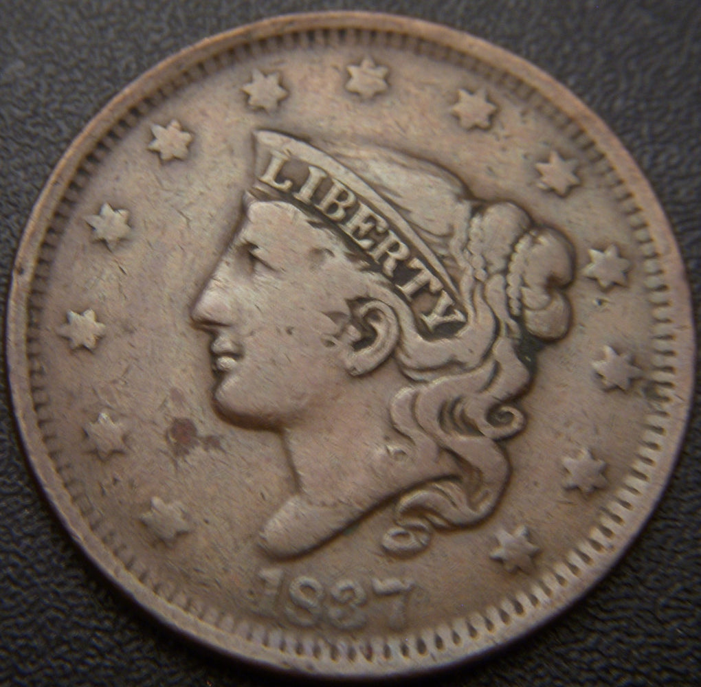 1837 Large Cent - Very Fine