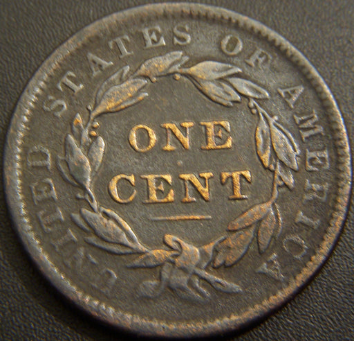 1838 Large Cent - Very Good Details