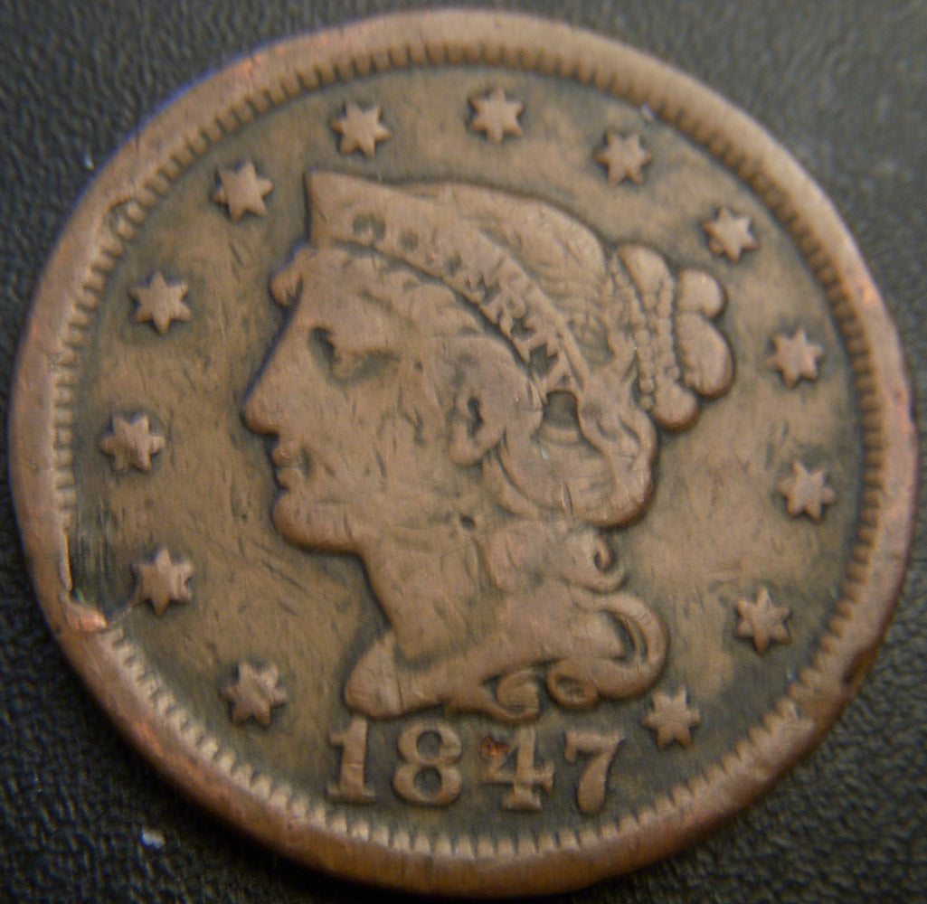 1847 Large Cent - Very Good