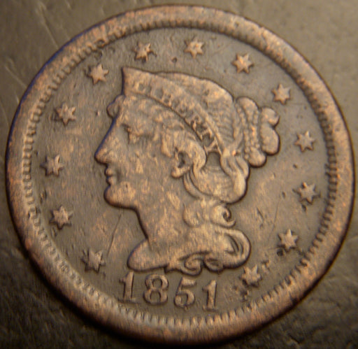 1851 Large Cent - Very Good