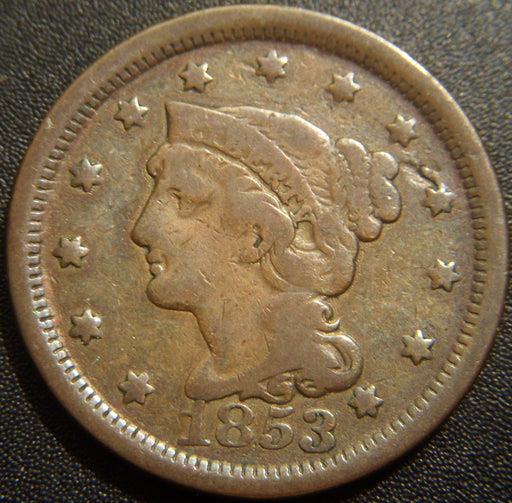 1853 Large Cent - Very Good