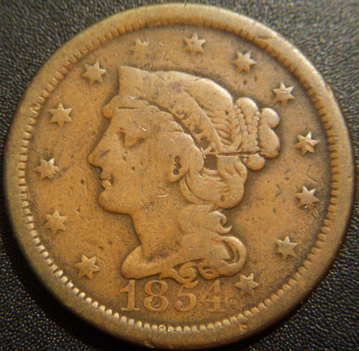 1854 Large Cent - Very Good
