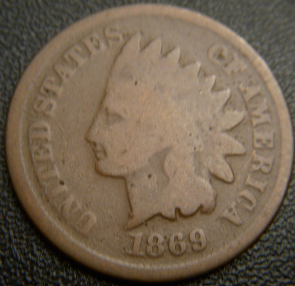 1869 Indian Head Cent - Good