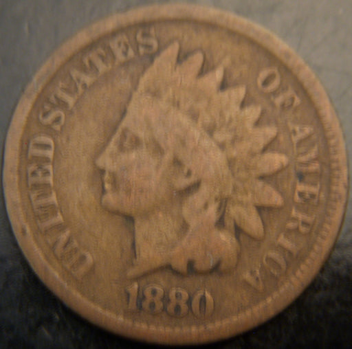 1880 Indian Head Cent - Good