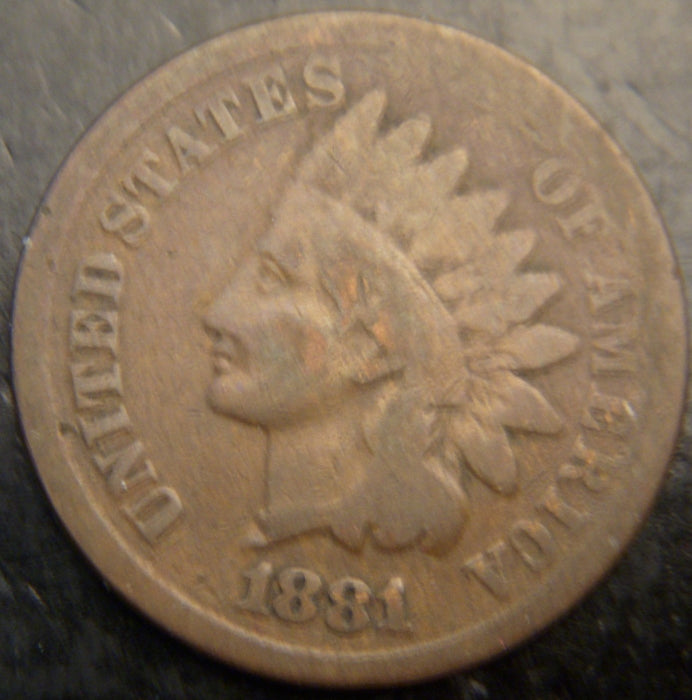 1881 Indian Head Cent - Good
