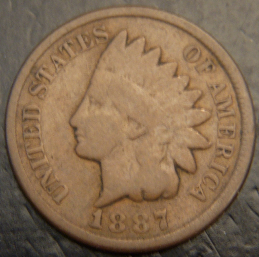 1887 Indian Head Cent - Good