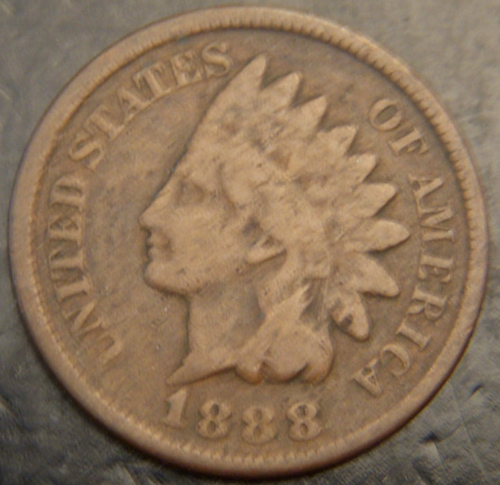 1888 Indian Head Cent - Good