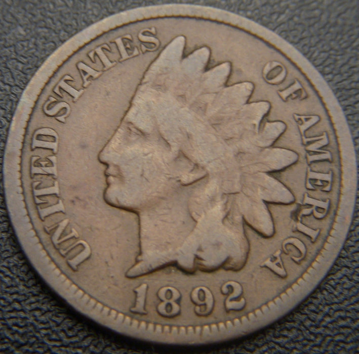 1892 Indian Head Cent - Good