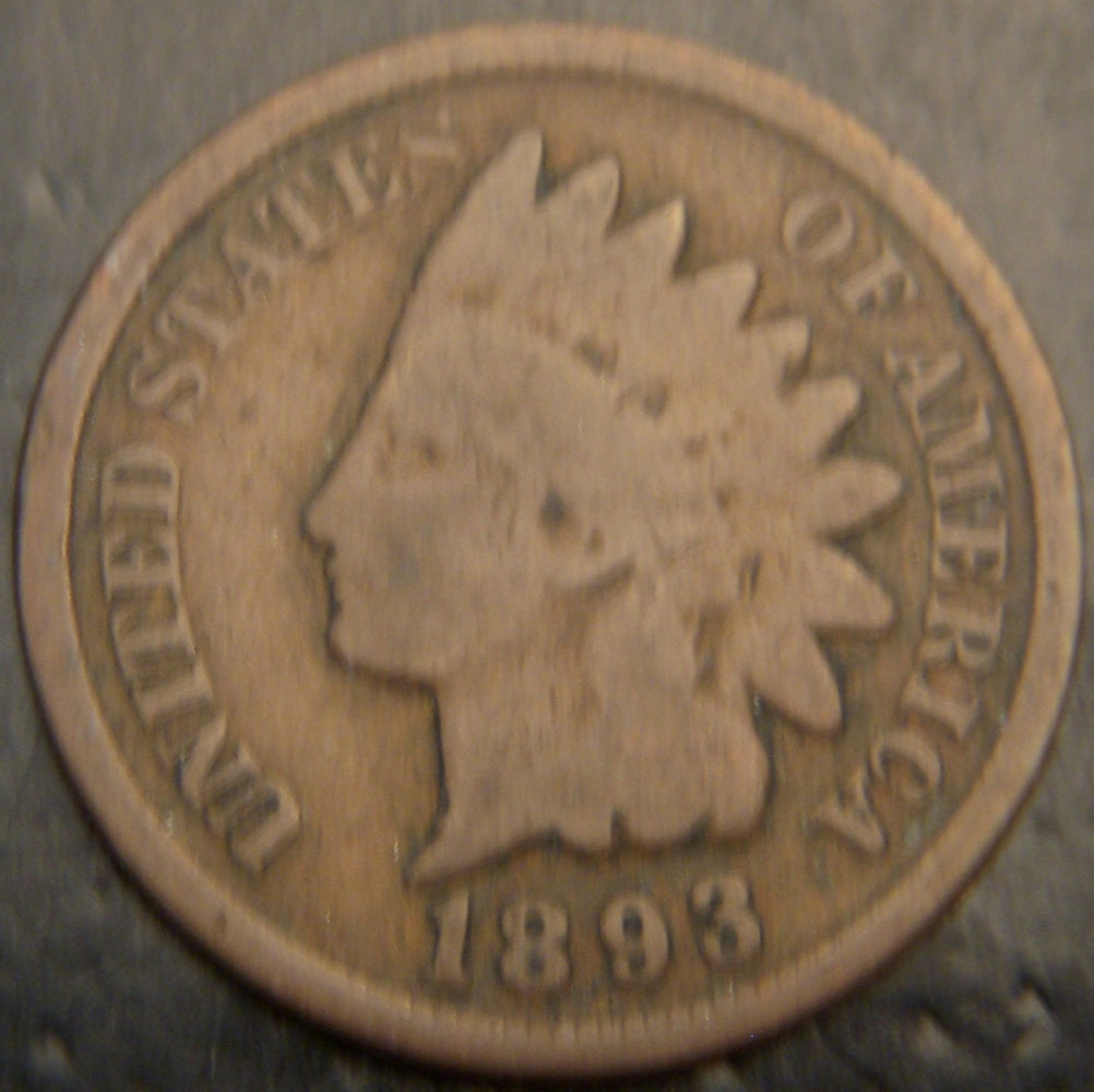 1893 Indian Head Cent - Good