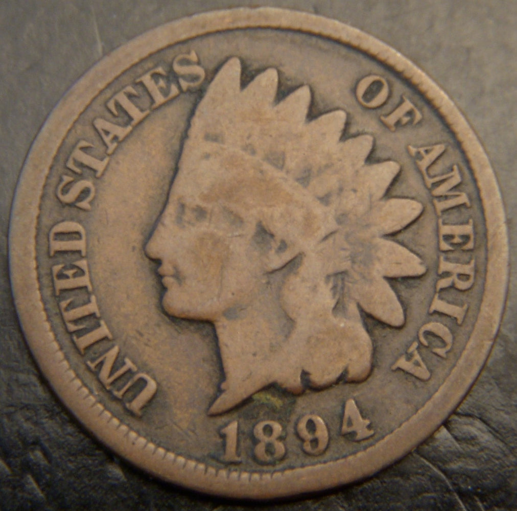 1894 Indian Head Cent - Good