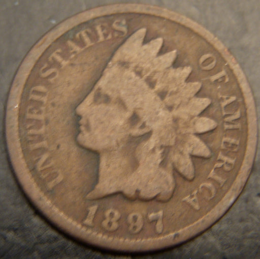 1897 Indian Head Cent - Good