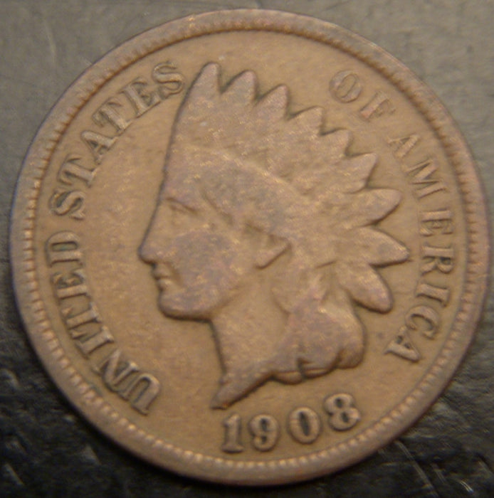 1908 Indian Head Cent - Good