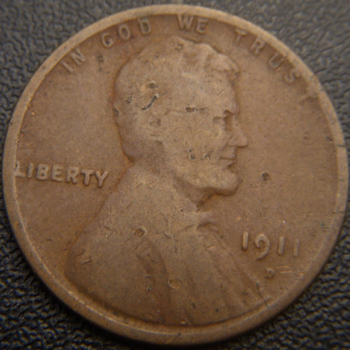1911-D Lincoln Cent - Good