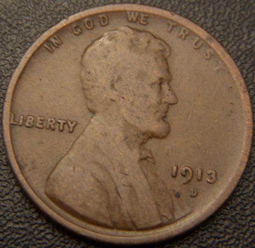 1913-D Lincoln Cent - Good/VG