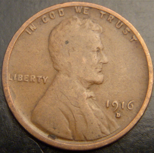 1916-D Lincoln Cent - Good/VG