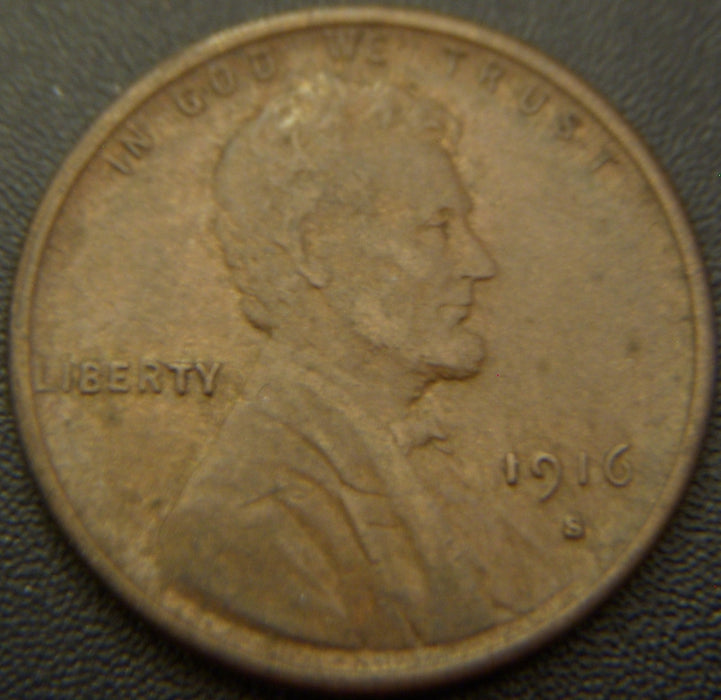 1916-S Lincoln Cent - EF