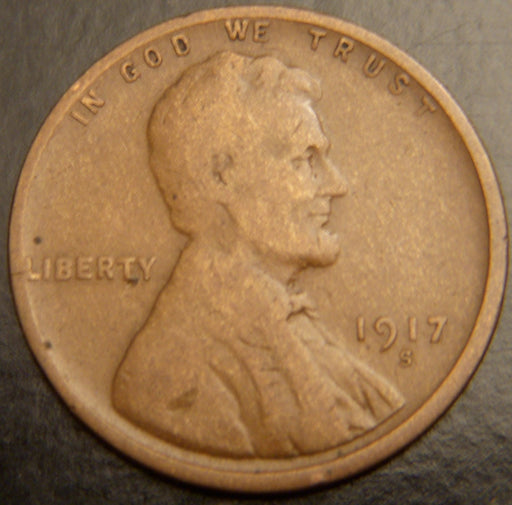 1917-S Lincoln Cent - Good/VG