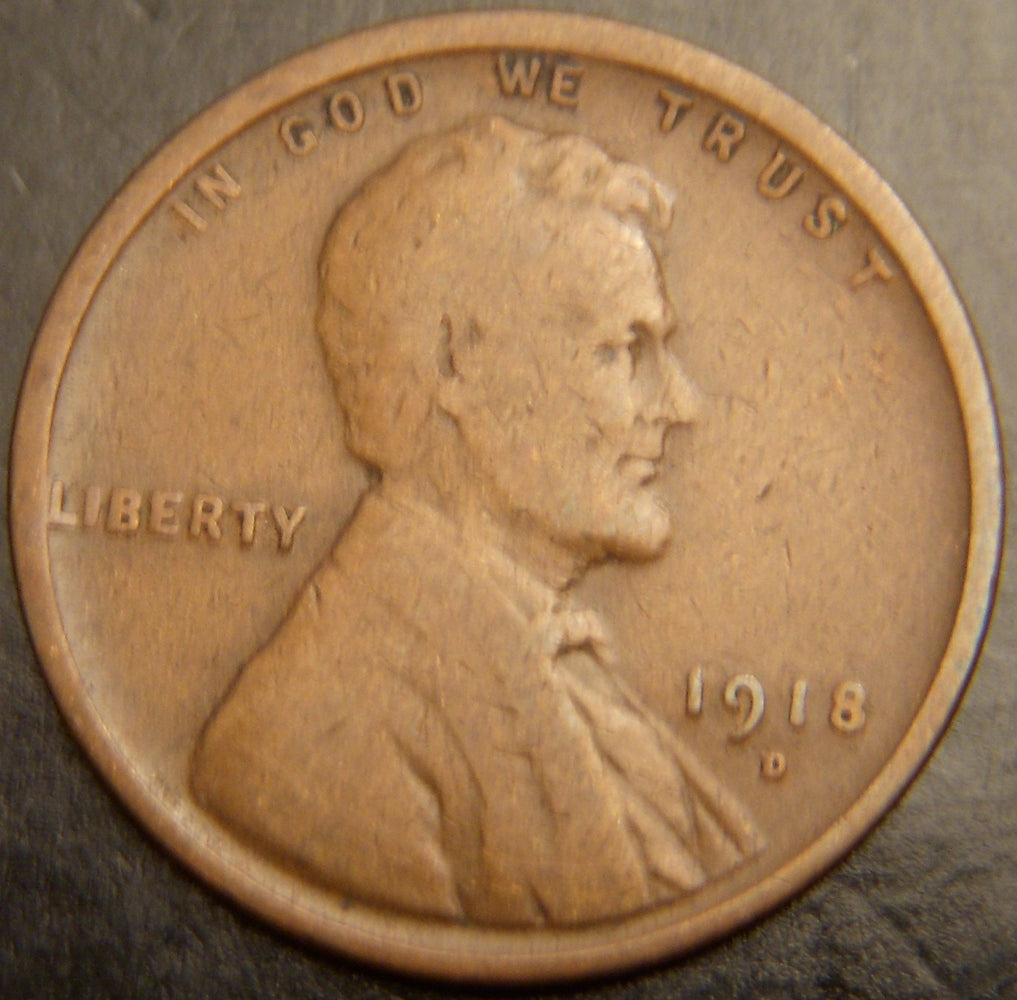1918-D Lincoln Cent - Good/VG