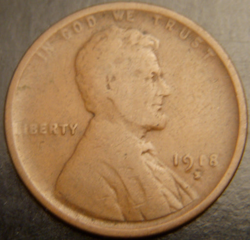 1918-S Lincoln Cent - Good/VG