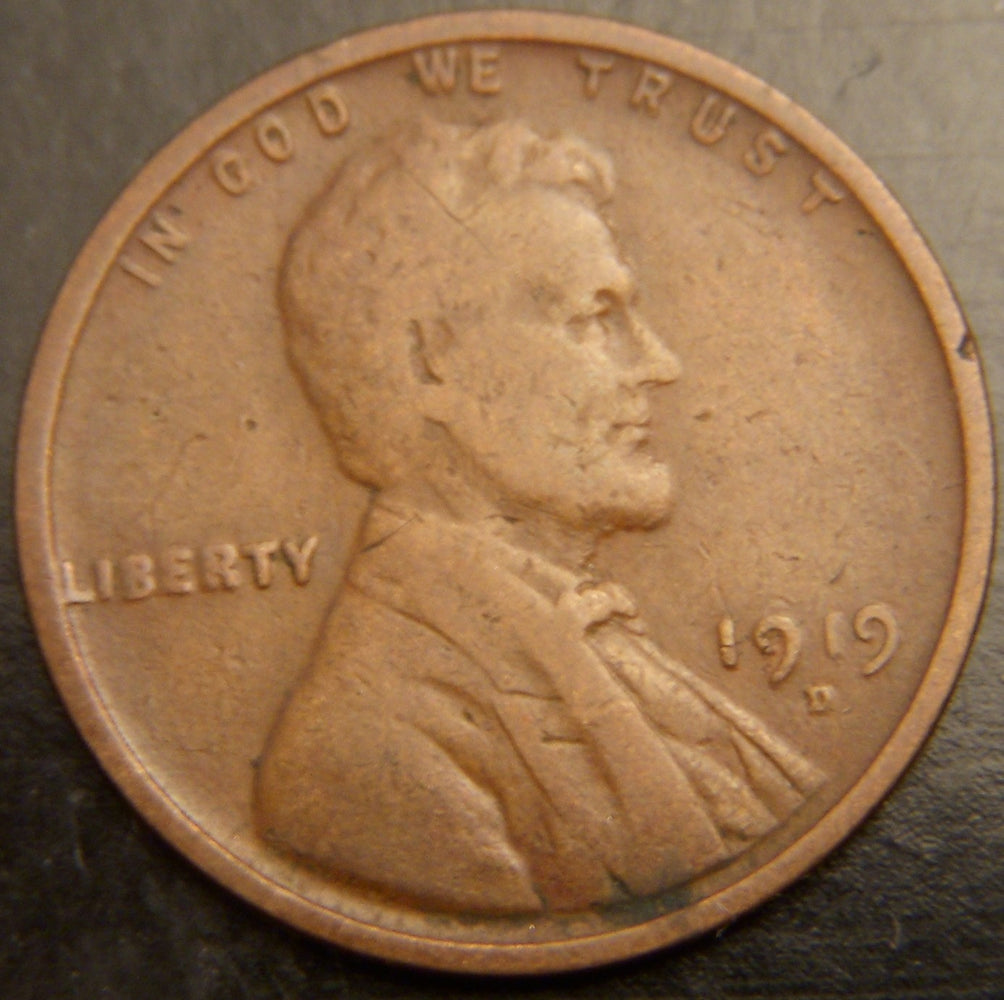 1919-D Lincoln Cent - Good/VG