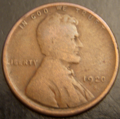 1920-S Lincoln Cent - Good/VG