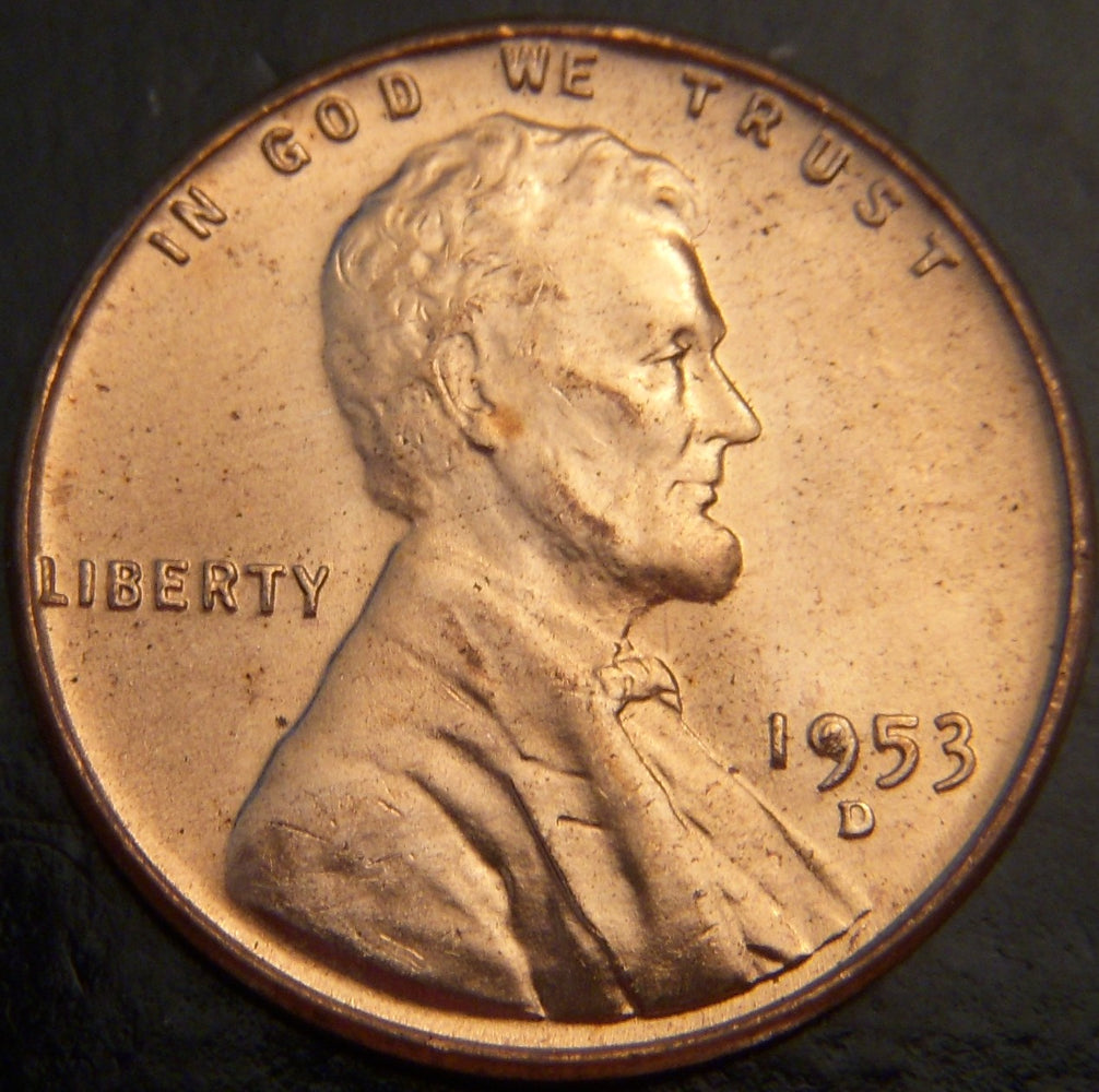 1953-D Lincoln Cent - Unc. MS