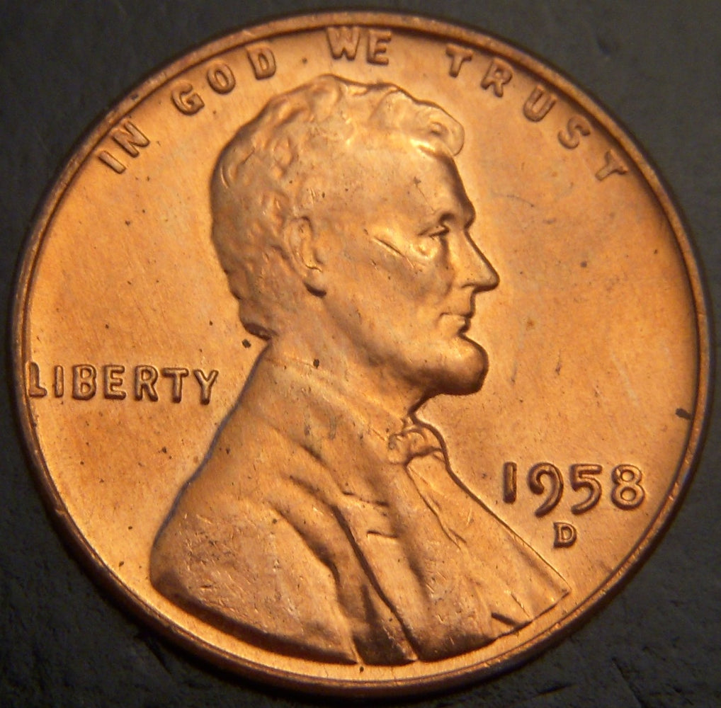 1958-D Lincoln Cent - Unc. MS