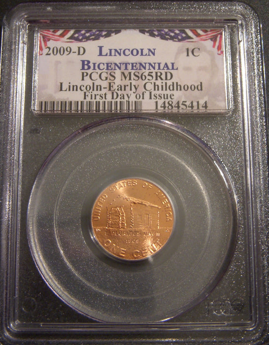 2009-D Lincoln Childhood Cent - PCGS MS65RD