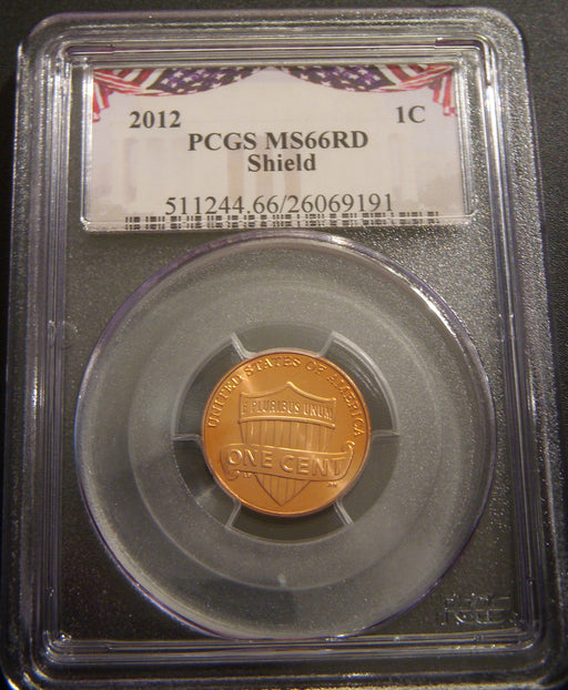 2012 Lincoln Cent - PCGS MS66RD