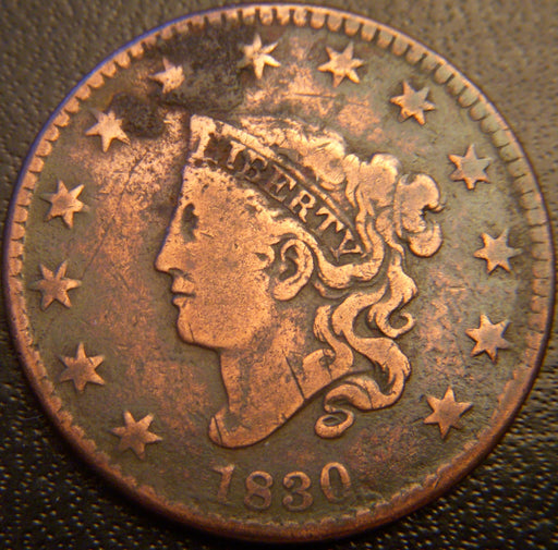 1830 Large Cent - Fine ML