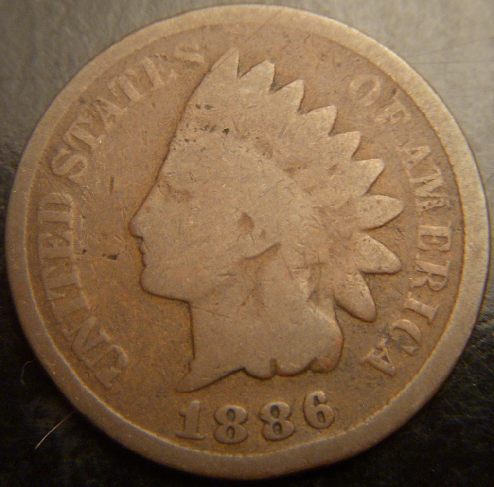 1886 Indian Head Cent - T2 C/A
