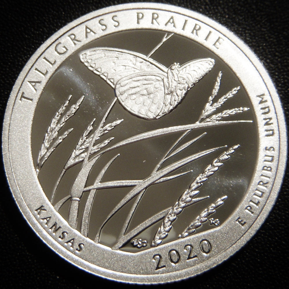 2020-S Tallgrass Prairie Park Quarter - Silver Proof