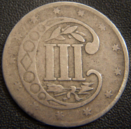 1854 Silver Three Cent Piece - Good +