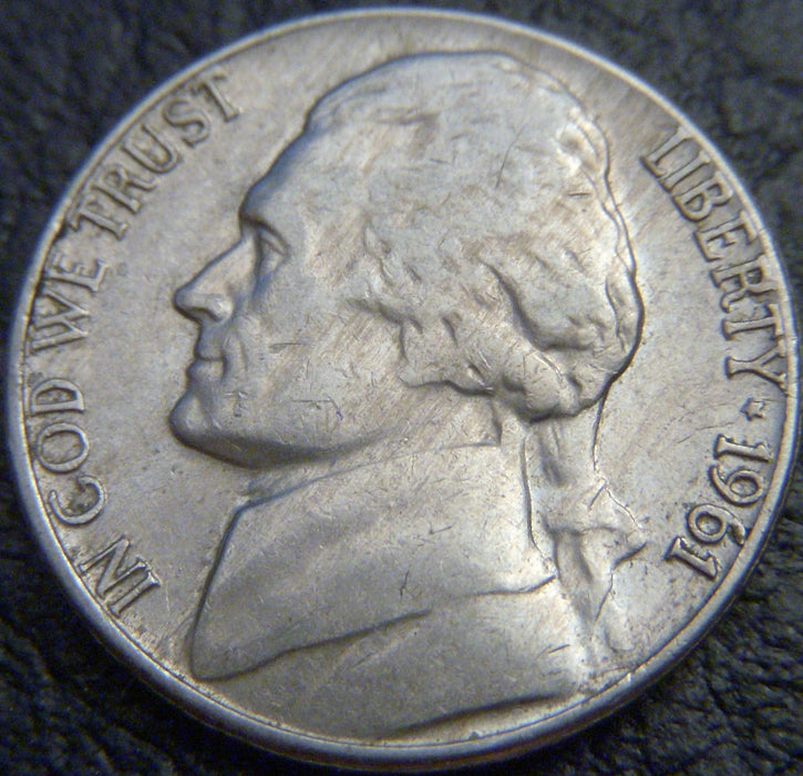 1961-D Jefferson Nickel - VF to AU