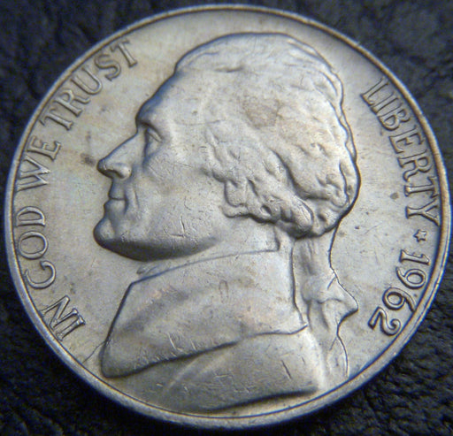 1962 Jefferson Nickel - VF to AU