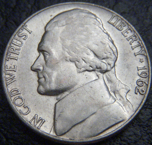 1962-D Jefferson Nickel - VF to AU