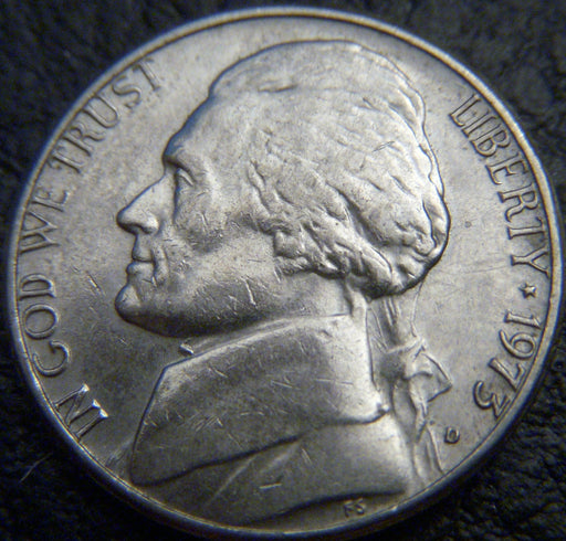 1973-D Jefferson Nickel - VF to AU