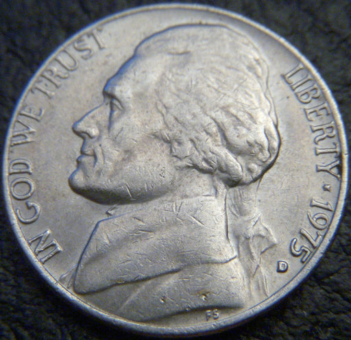 1975-D Jefferson Nickel - VF to AU