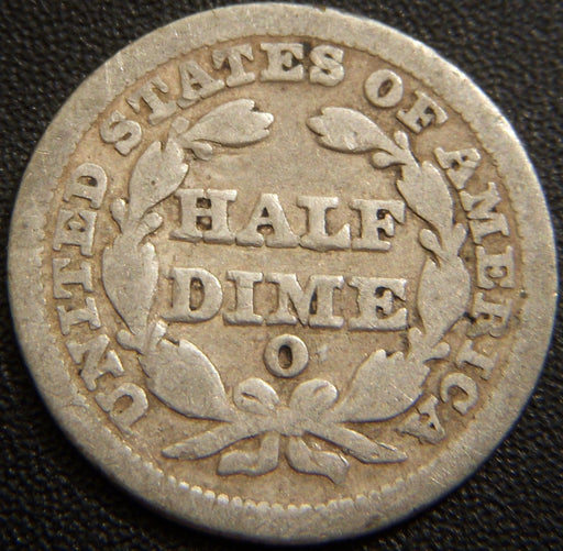 1850-O Seated Half Dime - Good