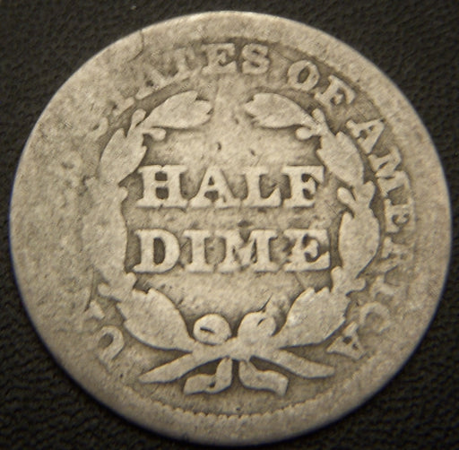 1853 Seated Half Dime - Good