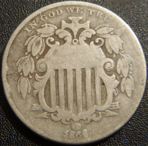1866 Shield Nickel - Good+