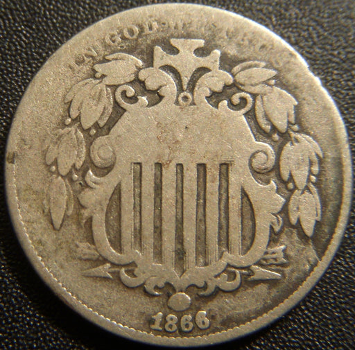1866 Shield Nickel - Good