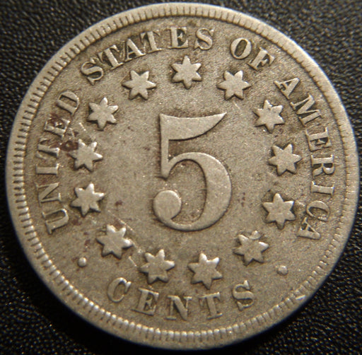 1868 Shield Nickel - Very Good