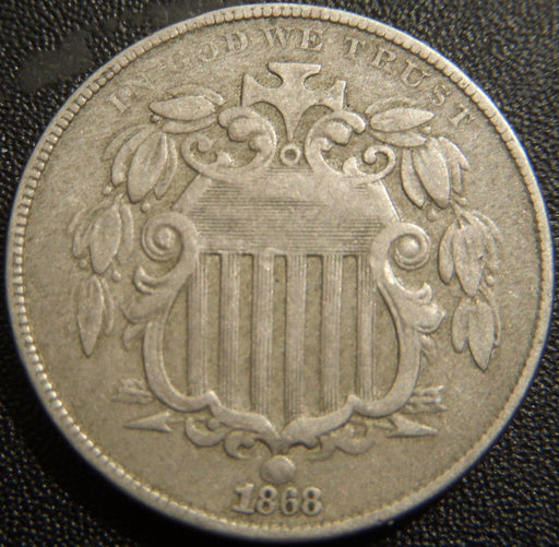 1868 Shield Nickel - Fine