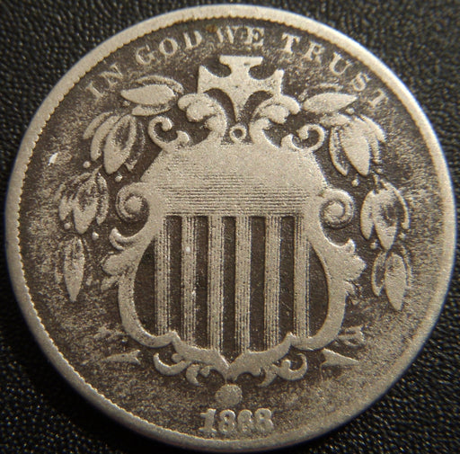 1868 Shield Nickel - Good