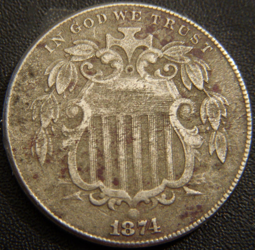 1874 Shield Nickel - Net Fine