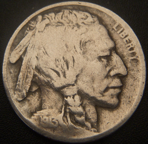 1913-D T2 Buffalo Nickel - VG