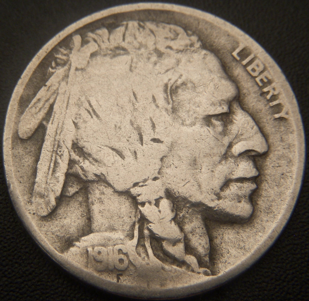 1916-D Buffalo Nickel - VG