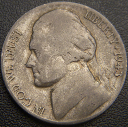 1943-S Silver Jefferson Nickel - Avg Cir