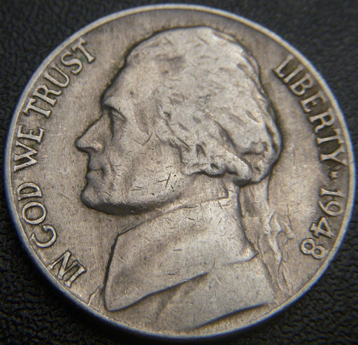 1948 Jefferson Nickel - VF to AU